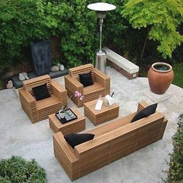 Arredamento da giardino in legno accessori da esterno - Fabriquer un salon de jardin ...