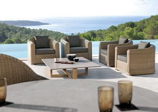Mobili per terrazzo in rattan design casa creativa e for Terrazzi arredamento da esterni