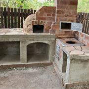 Lavabo da appoggio accessori da esterno for Forno a legna in mattoni refrattari