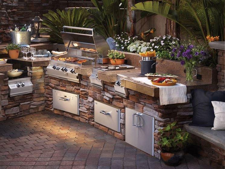 Stunning Cucina In Muratura Per Esterni Con Barbecue Ideas ...