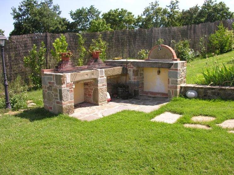 Barbecue da giardino barbecue barbecue da giardino - Cucina in muratura per esterni con barbecue ...