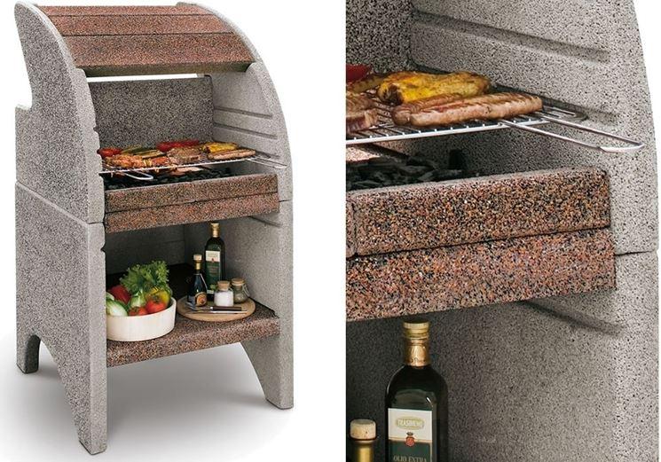 Un <strong>barbecue in cemento</strong> refrattario