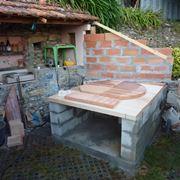 Basamento per forno a legna