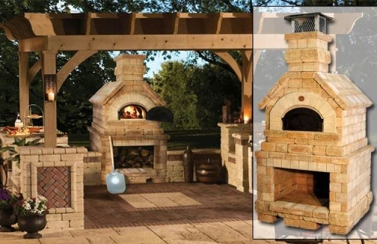 Barbecue e forno pizza in muratura iv96 regardsdefemmes - Barbecue per esterno ...