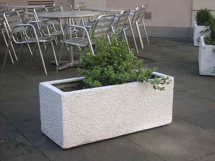 fioriere da giardino cemento