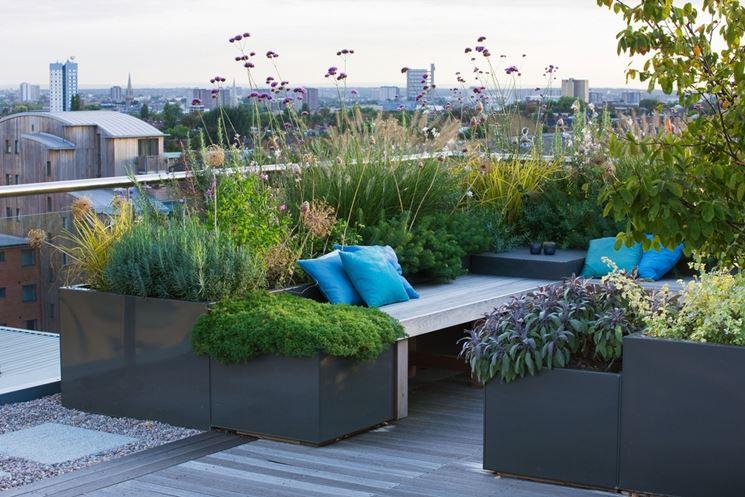 terrazza Terraces Roof idee : fioriere per terrazzi - Fioriere
