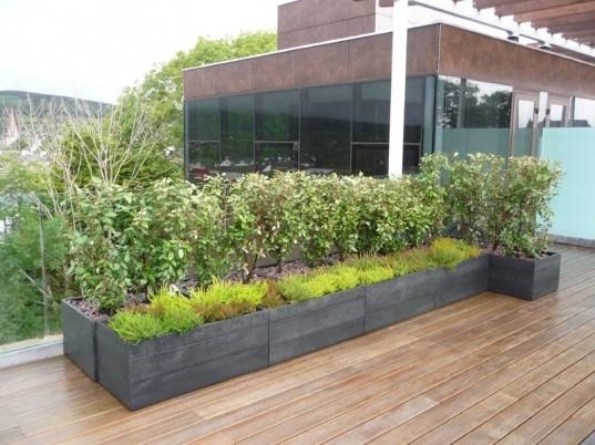 Fioriere Esterno Design Moderno : Fioriere terrazzo