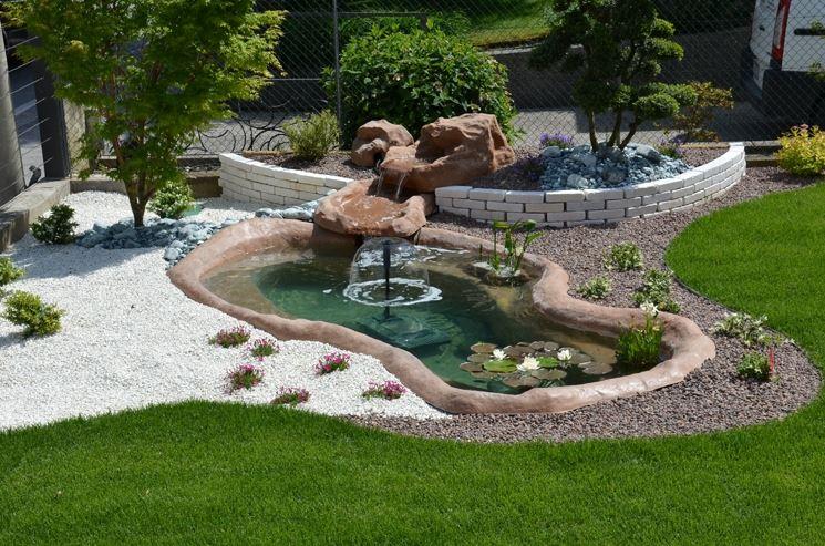Perch realizzare un laghettto da giardino fontane - Realizzare un giardino ...