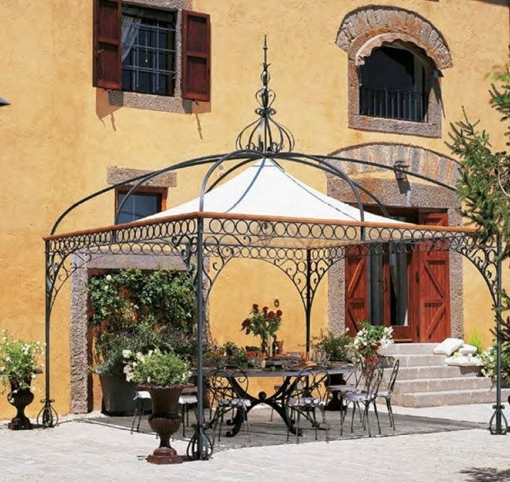Gazebi in ferro gazebo - Gazebo da giardino in ferro ...