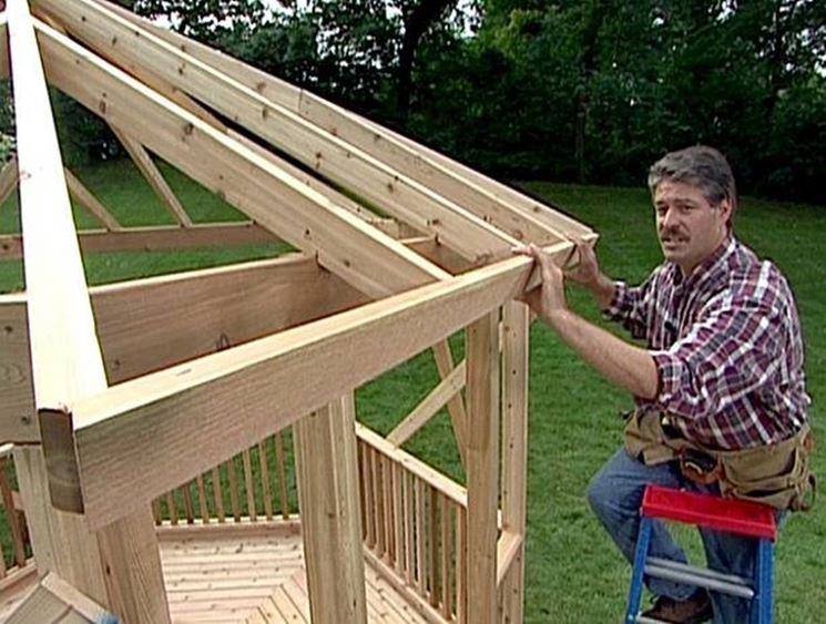 Gazebo fai da te gazebo costruire un gazebo fai da te - Costruire un tavolo in legno per esterno ...