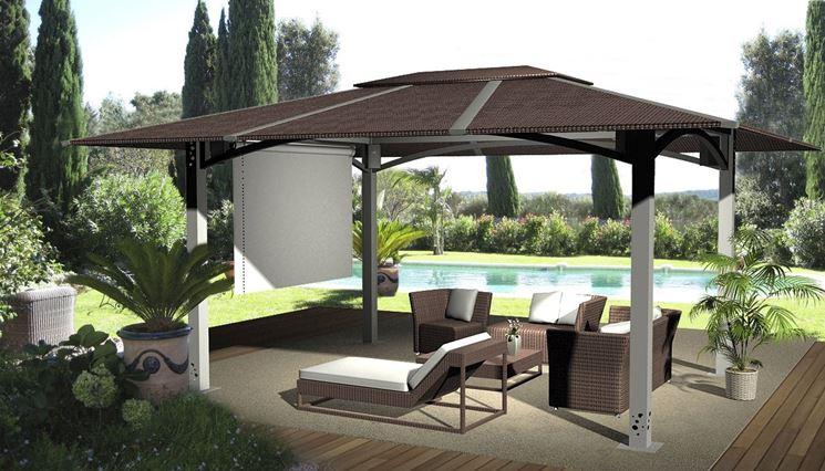 Gazebo per terrazzi gazebo for Arredo giardino terrazzo