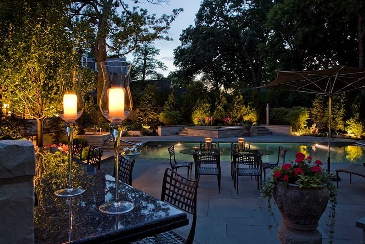 Impianto illuminazione illuminazione giardino impianto