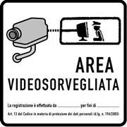 Cartello di un'area videosorvegliata