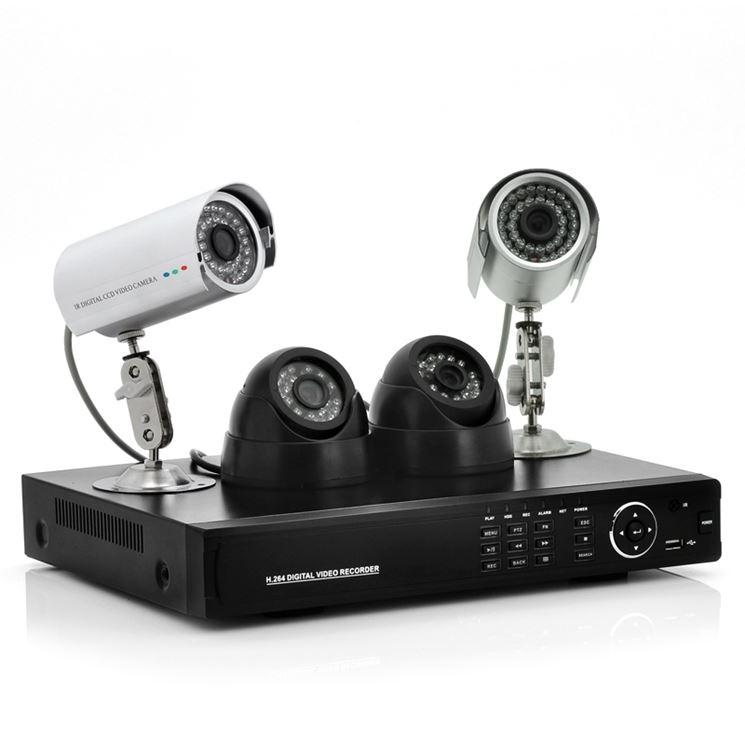Un sistema di videosorveglianza a cavo