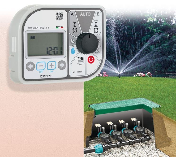 programmatore Aqua-Home 4-6-8 claber