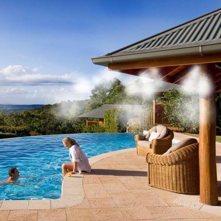 Nebulizzatori per gazebo a bordo piscina