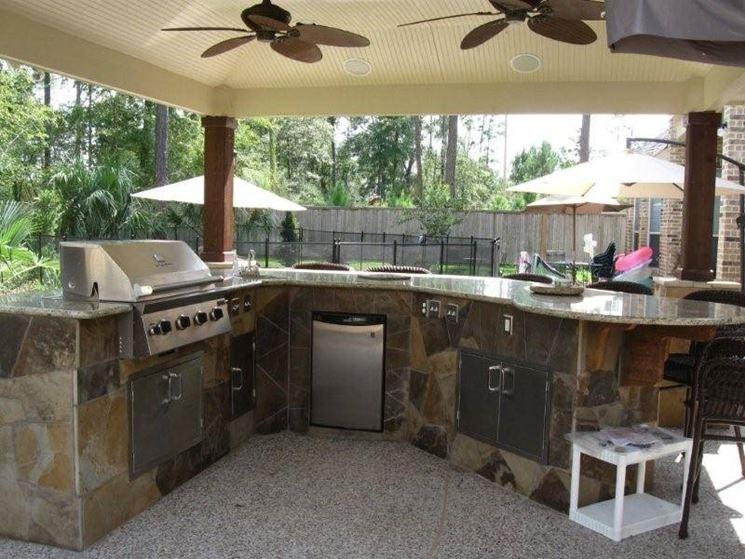 cucina in giardino