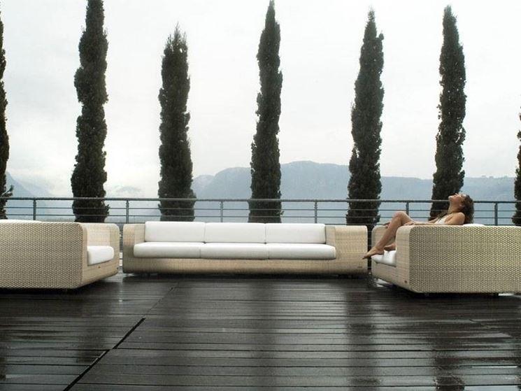 divano da giardino