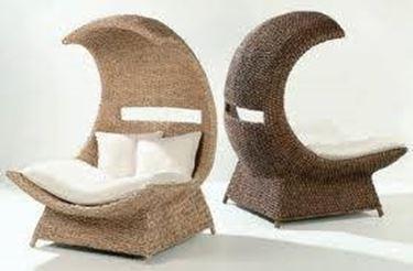 mobili da esterno in fibre naturali