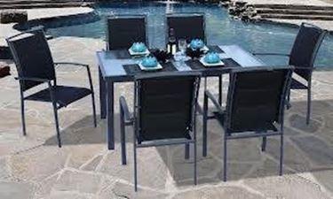 mobili da esterno in alluminio