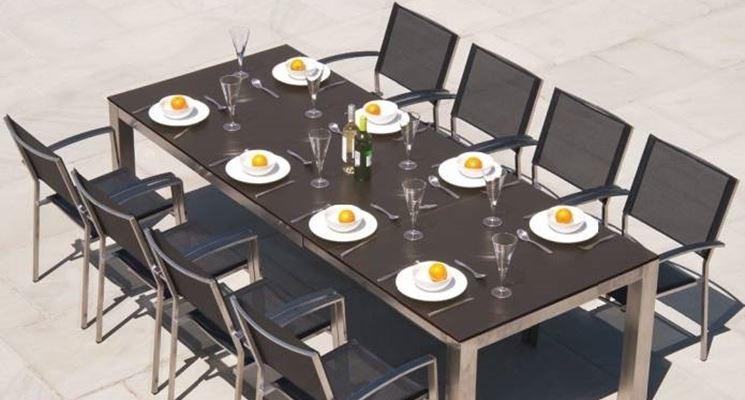 Offerta tavolo giardino set pranzo da giardino tavolo allungabile sedie pieghevoli in legno - Offerte tavoli da giardino ...