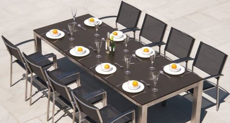 Tavoli da giardino allungabili mobili da giardino - Tavoli da giardino in ferro battuto ...