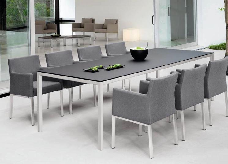 Tavolo giardino mobili da giardino for Arredo da giardino in alluminio