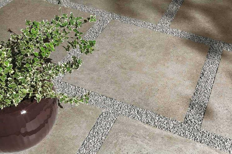 Mattonelle antiscivolo pavimenti per esterni - Piastrelle giardino cemento ...