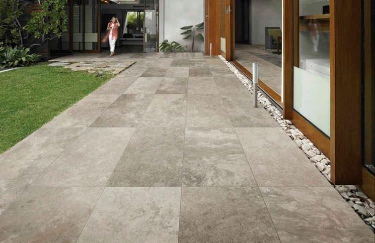 Pavimento in pietra pavimenti per esterni caratteristiche del pavimento in pietra - Pavimento da esterno carrabile ...