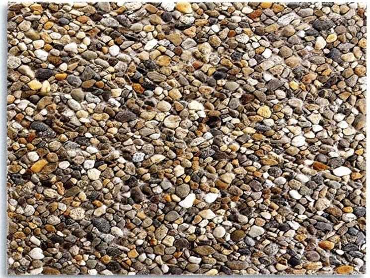 Pavimento per esterno con sassi di fiume a vista pavimenti per