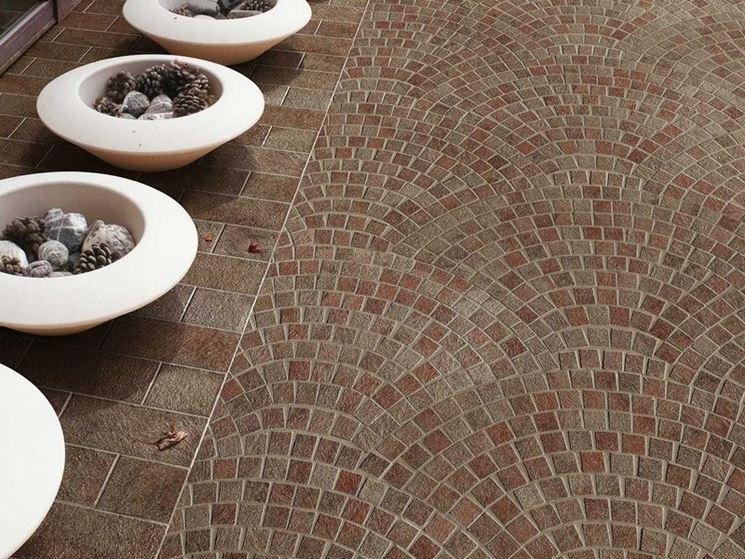 Piastrelle per mosaico pavimenti per esterni - Mosaico per esterno ...