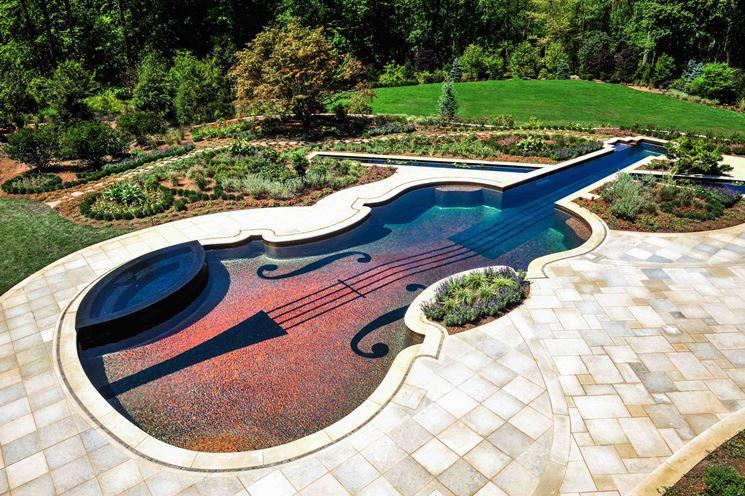 Mattonelle colorate per piscina