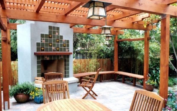 Coperture in legno per esterni   pergole tettoie giardino ...