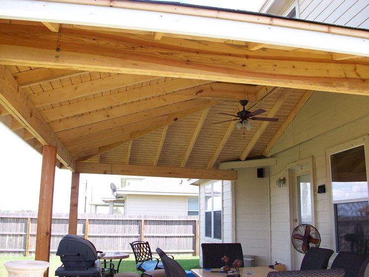 Coperture per terrazze pergole tettoie giardino for Open porch roof designs