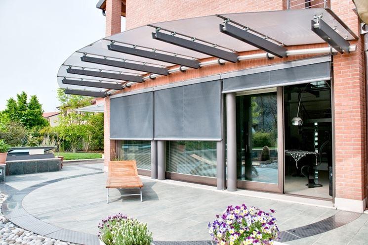 Pensiline acciaio inox pergole tettoie giardino realizzare pensiline - Terrazzi di design ...