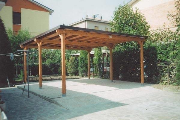 Pensiline fotovoltaiche in legno pergole tettoie - Garage da giardino ...