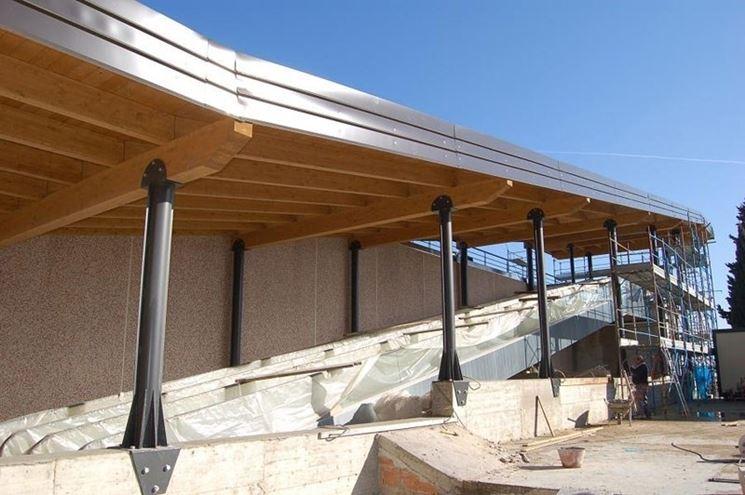 Pensiline in acciaio pergole tettoie giardino caratteristiche delle pensiline in acciaio - Casa in acciaio prezzo ...
