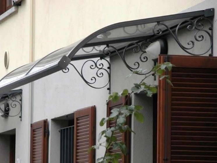 Pensiline in ferro pergole tettoie giardino pensiline for Coperture leroy merlin