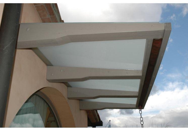 copertura pensilina vetro