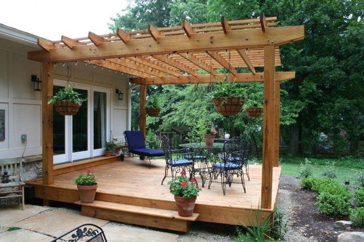 pergolato legno esterno