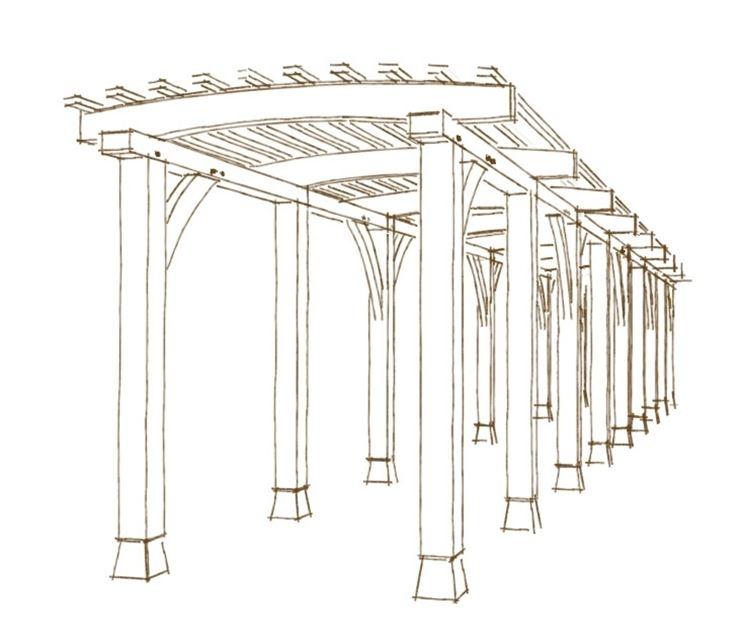 tettoia in legno pergole tettoie giardino tettoia in