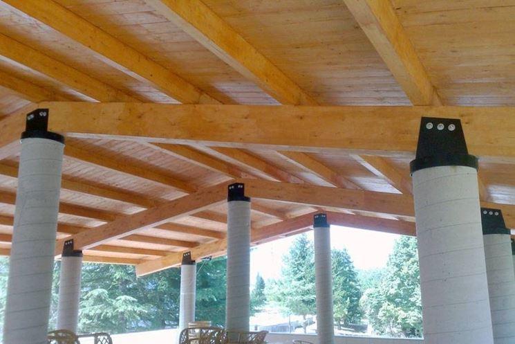 Tettoie in legno pergole tettoie giardino le migliori for Pannelli in legno lamellare prezzi