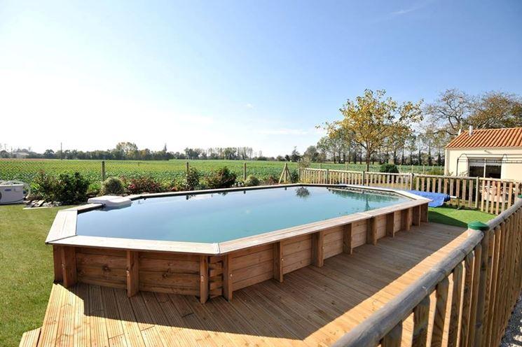 I vantaggi di una piscina fuori terra piscine - Piscine fuori terra rivestite in legno ...