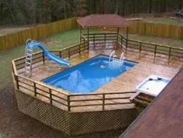 piscina fai da te - piscine - Come Arredare Un Giardino Con Piscina