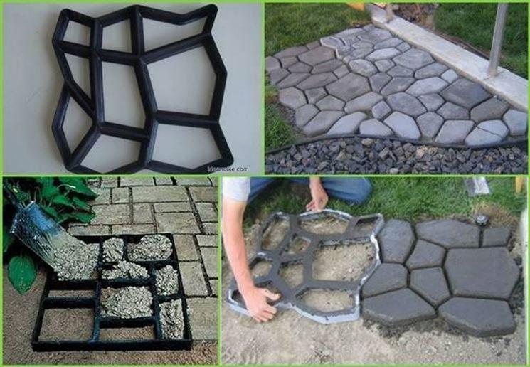 5 idee per il vialetto del tuo giardino progettazione for Baldosones de cemento