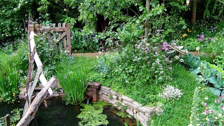 giardino rustico
