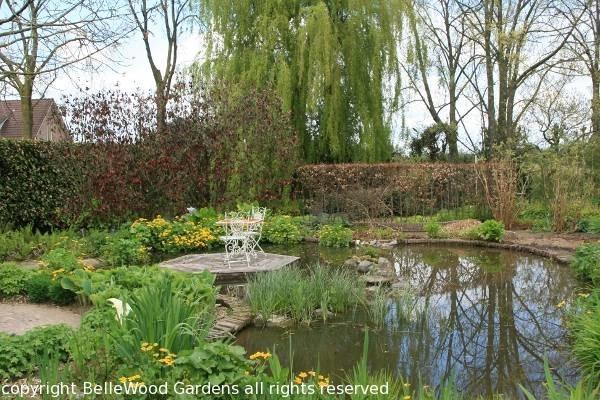 Giardini d acqua progettazione giardino for Laghetto preformato