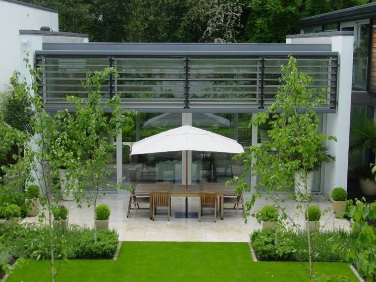 Giardini moderni progettazione giardino for Arredo ville e giardini