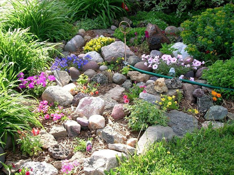 Giardino roccioso progetto progettazione giardino - Camminamento pietra giardino ...