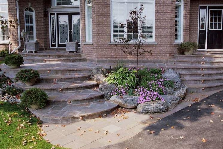 Pavimenti per giardini progettazione giardino - Scale per giardini ...